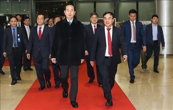 Clip: Chủ tịch nước Trần Đại Quang thăm và chúc Tết EVN