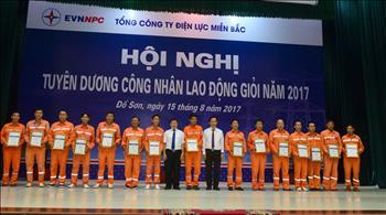 EVNNPC vinh danh 239 công nhân lao động trực tiếp