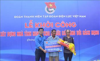 Đoàn Thanh niên EVN xây nhà tình nghĩa cho gia đình có công với Cách mạng tại Quảng Bình