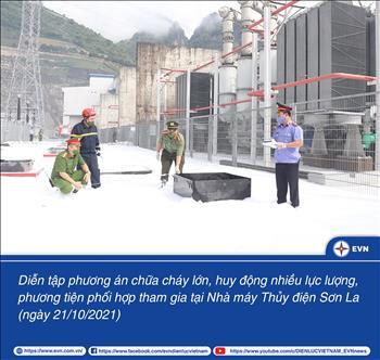 Diễn tập phương án chữa cháy quy mô lớn nhất từ trước đến nay tại Nhà máy Thủy điện Sơn La