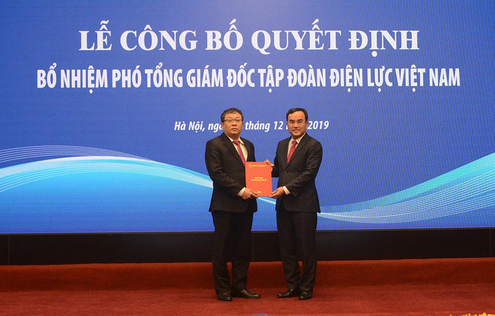 Bổ nhiệm ông Phạm Hồng Phương giữ chức vụ Phó Tổng giám đốc EVN từ ngày 1/1/2020